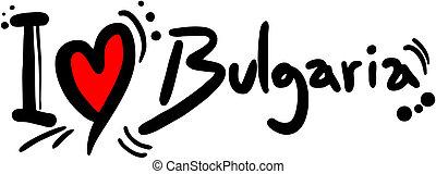 Love Bulgaria - Creative design of love bulgaria