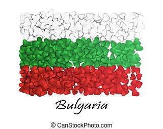 Love Bulgaria. Flag Heart Glossy. With love from Bulgaria. Made in Bulgaria. Bulgaria national independence day. Sport team flag