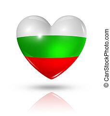 Love Bulgaria, heart flag icon