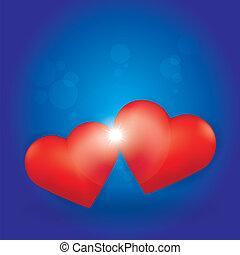Love Burst between two Hearts