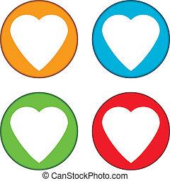 Love buttons set