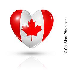 Love Canada, heart flag icon