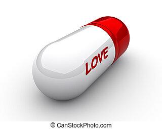 "Love capsule - Capsule with an inscription \\\""love\\\""..."