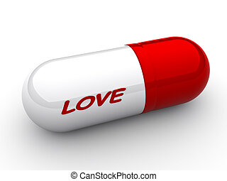 """Love capsule - Capsule with an inscription """"love"""" close up"""