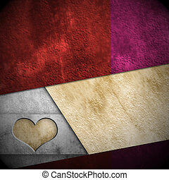 Love card background, copy space - background with heart...