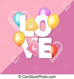 Love Card Concept. Vector