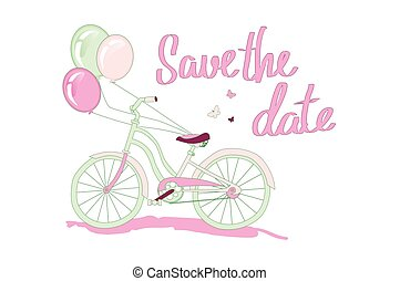 Save the date - love card design. vector illustration. Save ...