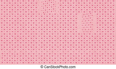 Love Card design with heart, Video Animation