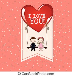 love card , vector illustration
