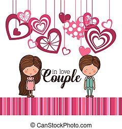 love card , vector illustration