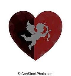 love card with cupid angel
