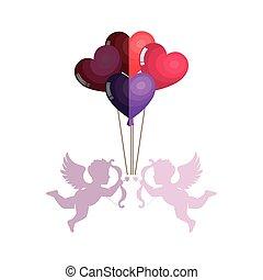 love card with cupid angel