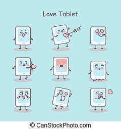 Love cartoon digital tablet pc