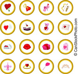 Love cartoon icon circle