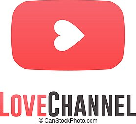 Love channel logo, online TV concept