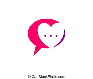 Love Chat Talk Love Logo Design Template