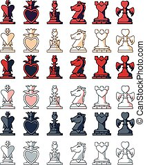 Love Chess Pieces Set