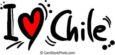 Love chile - Creative design of love chile
