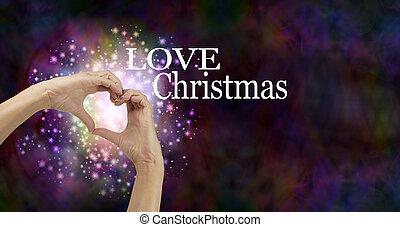 Love Christmas banner