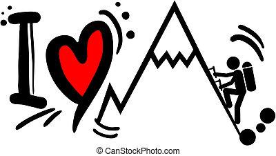 Love climb - Creative design of love climb
