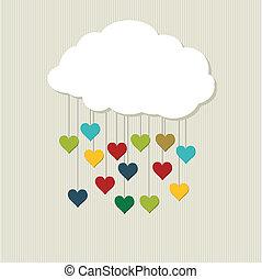 Love Cloud. Vector