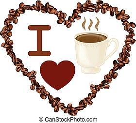 Love coffee beans heart