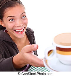 Love coffee woman