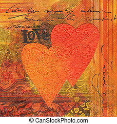 Love Collage - Collage artwork with hearts, artwork is...