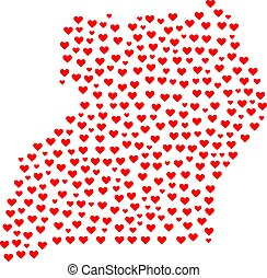 Love Collage Map Of Uganda