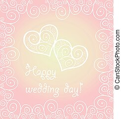 Love concept for Wedding design with lacy hearts