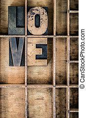 Love Concept Letterpress Type