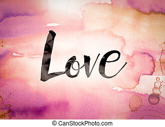 Love Concept Watercolor Theme