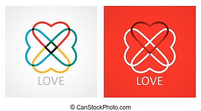 Love concept with abstract heart icon