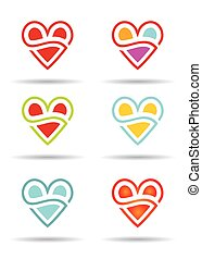 Love concept with abstract heart icon.
