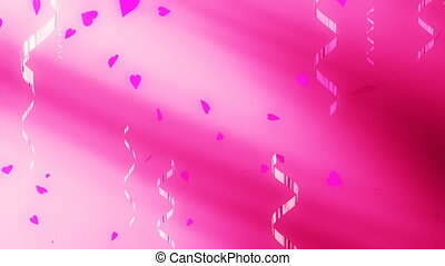 Love Confetti Loop - Looping Love Animated Background