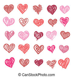 love., coração, isolated., ilustração