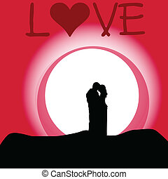 love couple cartoon vector illustration