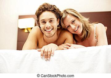 Love couple cuddling