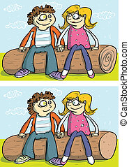 Love Couple Differences Visual Game