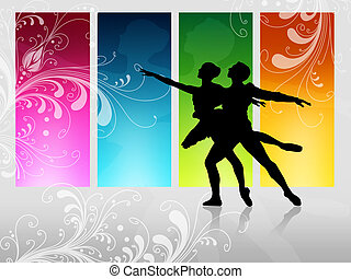 couple is dancing in front of a high window
