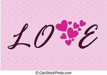 love design over pink background vector illustration