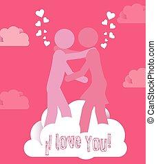 Love design, vector illustration. - Love design over pink...