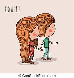 Love design,vector illustration. - Love design over white...
