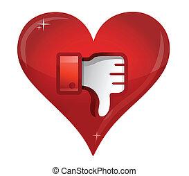 love Dislike Icon. Thumb down Sign illustration design
