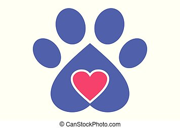 love dog logo vector