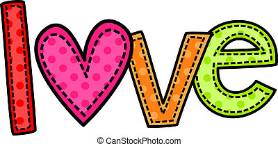 Love Doodle Text - A stitch style doodle typeface that says...