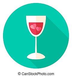 Love Drink Circle Icon