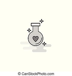Love drink Web Icon. Flat Line Filled Gray Icon Vector