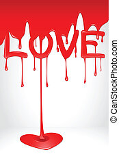 Love Drop - illustration of love dripping and forming heart