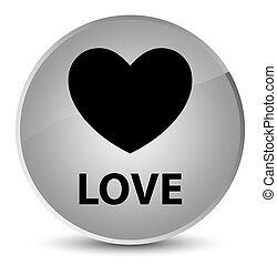 Love elegant white round button